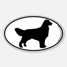 Golden Retriever SILHOUETTE Oval Decal
