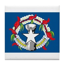Northern Marianas Flag Tile Coaster