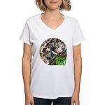 Squirrel in Tree Photo Women's V-Neck T-Shirt