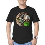Squirrel in Tree Photo Men's Fitted T-Shirt (dark)
