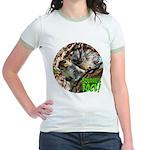 Squirrel in Tree Photo Jr. Ringer T-Shirt