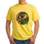 Squirrel in Tree Photo Yellow T-Shirt