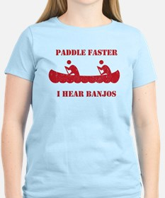 Paddle Faster Deliverance Womens Light T-Shirt