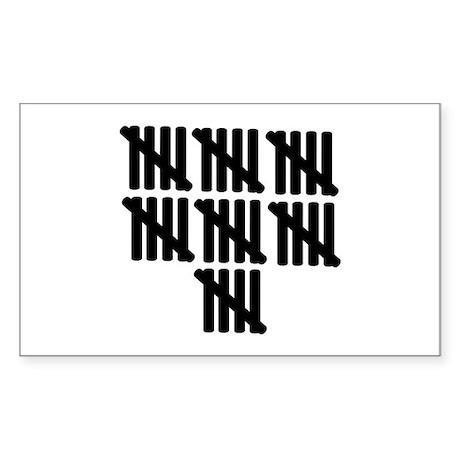 35th birthday Sticker (Rectangle)