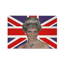 Princess Diana flying the Flag Magnets