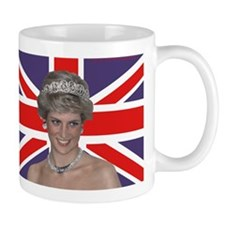 Princess Diana flying the Flag Mugs