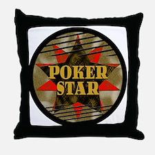 Poker Star! Throw Pillow