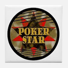 Poker Star! Tile Coaster