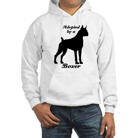 ADOPTED by a Boxer Hooded Sweatshirt