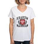 Krakow Poland Women's V-Neck T-Shirt