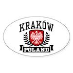 Krakow Poland Sticker (Oval)