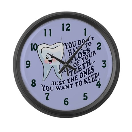 Funny Dentists Office Large Wall Clock