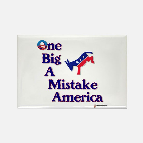 One Big A++ Mistake Rectangle Magnet