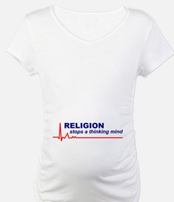 Religion Stops.. Maternity/Nightshirt (Front Only)