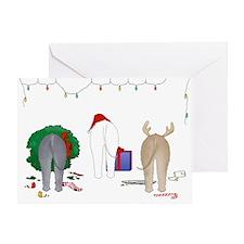 Bedlington Christmas Greeting Card
