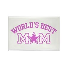 World's Best Mom Rectangle Magnet