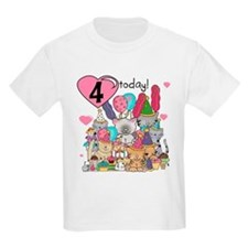 Kittens 4th Birthday T-Shirt