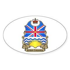 B.C. Shield Oval Decal