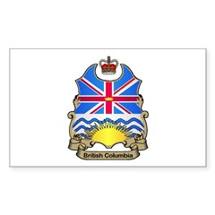 B.C. Shield Rectangle Decal