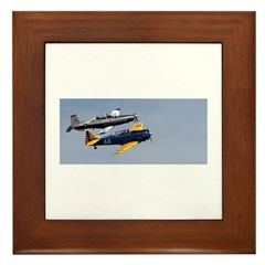 T 6 Texan Trainers Framed Tile