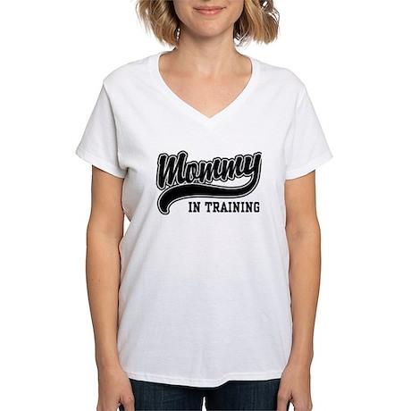 Mommy in Training Women's V-Neck T-Shirt
