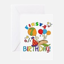 Fiesta 7th Birthday Greeting Card