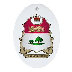 P.E.I Shield Oval Ornament
