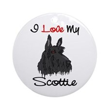 I Love My Scottie Keepsake Ornament