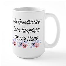 Grandkitties Pawprints Large Coffee Mug