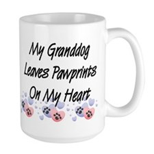 Granddog Pawprints Large Coffee Mug