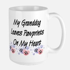 Granddog Pawprints Large Coffee Mug