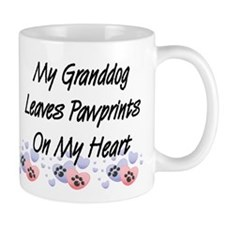 Granddog Pawprints Coffee Small Mug