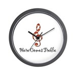 Here Comes Treble Wall Clock