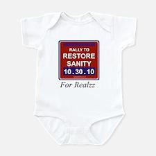 Rally restore sanity Infant Bodysuit