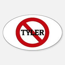Anti-Tyler Oval Decal