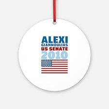 Giannoulias US Senate Ornament (Round)