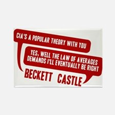 Castle CIA/Law Of Averages Rectangle Magnet