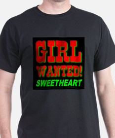 Girl Wanted Sweetheart Black T-Shirt