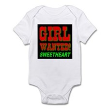 Girl Wanted Sweetheart Infant Creeper