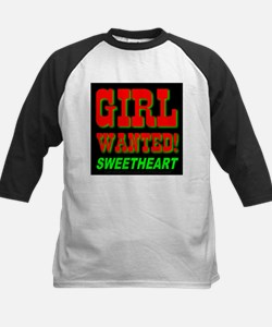 Girl Wanted Sweetheart Kids Baseball Jersey