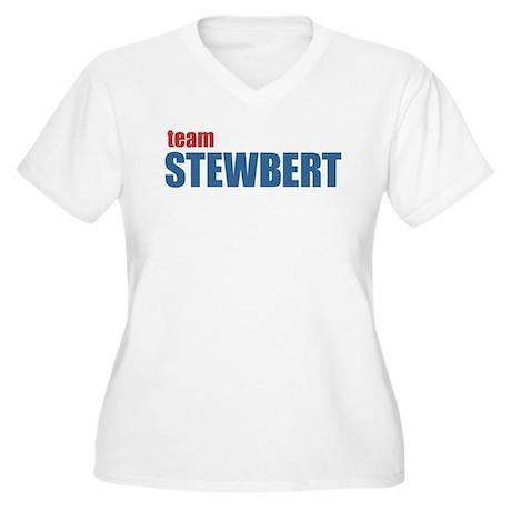 Team Stewbert v2 Women's Plus Size V-Neck T-Shirt