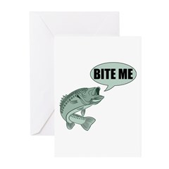 Bite Me Bass Greeting Cards (Pk of 10)