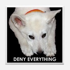 Deny Everything Tile Coaster