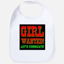 Girl Wanted! Let's Fornicate Bib