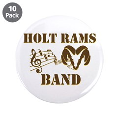 "Band 3.5"" Button (10 pack)"