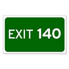 EXIT 140 Decal