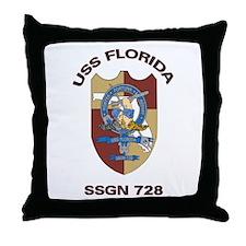 USS Florida SSGN 728 Throw Pillow