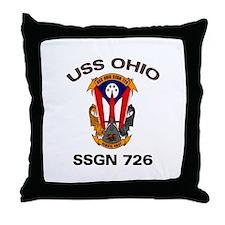 USS Ohio SSGN 726 Throw Pillow