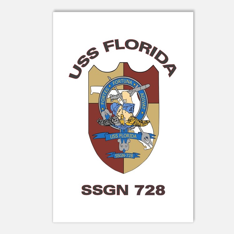 USS Florida SSGN 728 Postcards (Package of 8)