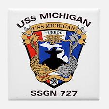 USS Michigan SSGN 727 Tile Coaster